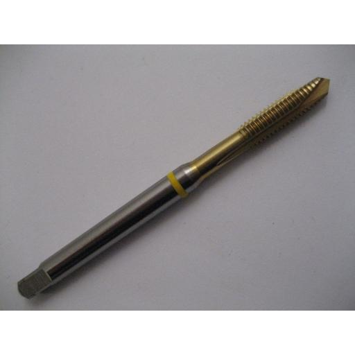 M8 x 1.25 SPIRAL POINT TiN COATED YELLOW RING TAP EUROPA TOOL TM18170800