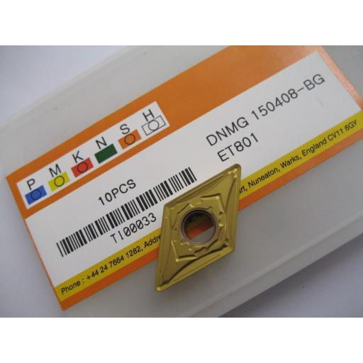 DNMG150408-BG (DNMG 432-BG) ET801 CARBIDE TURNING INSERTS EUROPA TOOL