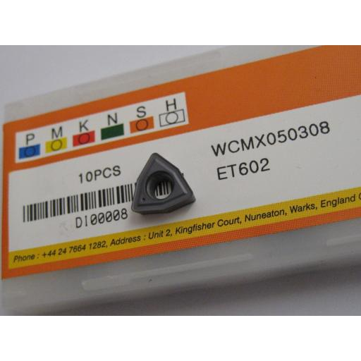 WCMX050308 ET602 SOLID CARBIDE WCMX U-DRILL DRILLING INSERTS EUROPA TOOL