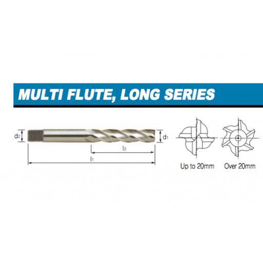 19mm COBALT LONG SERIES END MILL HSSCo8 EUROPA TOOL CLARKSON 3082021900