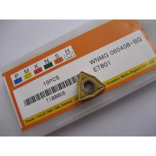 WNMG060408-BG (WNMG 332-BG) ET801 CARBIDE TURNING INSERTS EUROPA TOOL