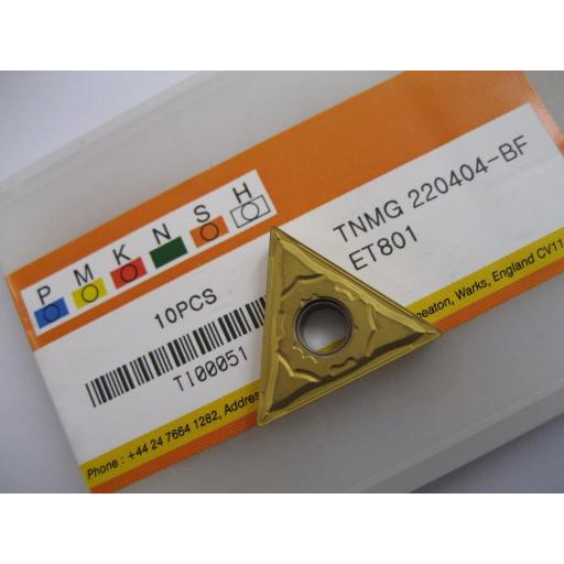 TNMG220404-BF (TNMG 431-BF) ET801 CARBIDE TURNING INSERTS EUROPA TOOL
