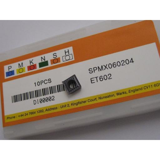 SPMX060204 ET602 SOLID CARBIDE SPMX U-DRILL DRILLING INSERTS EUROPA TOOL