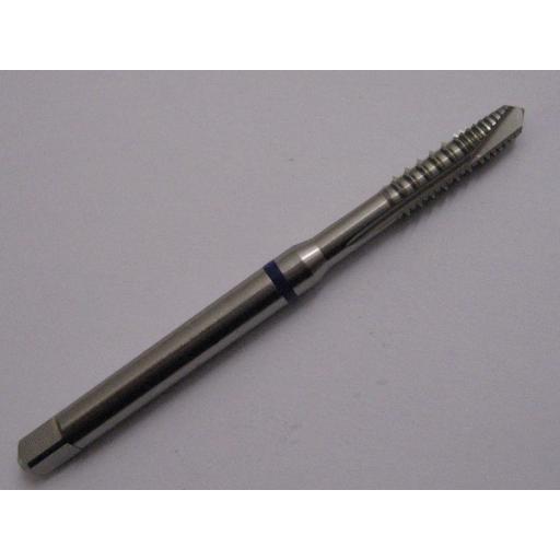 M3 x 0.5 HSS-E 6H SPIRAL POINT BLUE RING TAP DIN 371 EUROPA TOOL TM05160300