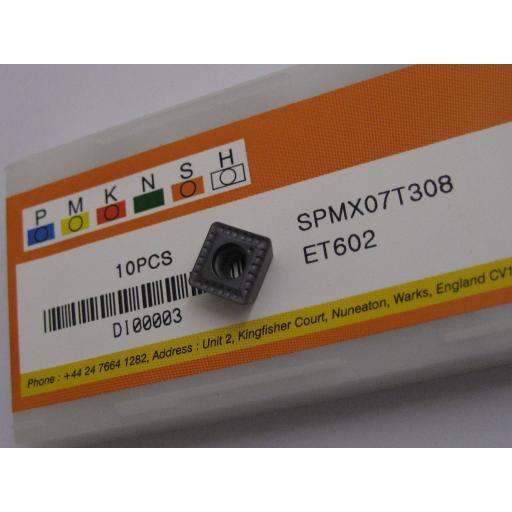 SPMX07T308 ET602 SOLID CARBIDE SPMX U-DRILL DRILLING INSERTS EUROPA TOOL